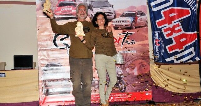 Victoria de Castor J. Ortega y Mª Carmen Díaz  tras un final de infarto en el Rally Clásicos del Atlas Solidario