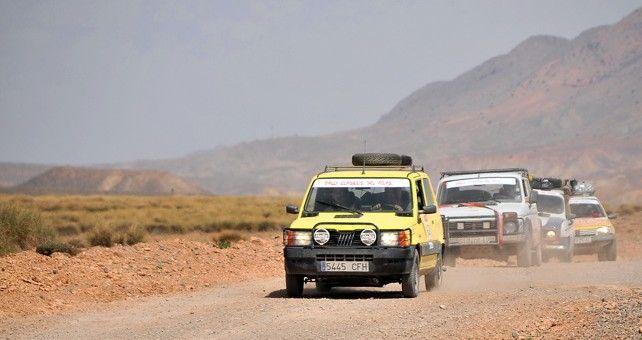 La penúltima etapa del Rally Clásicos del Atlas Solidario vuelve a la montaña