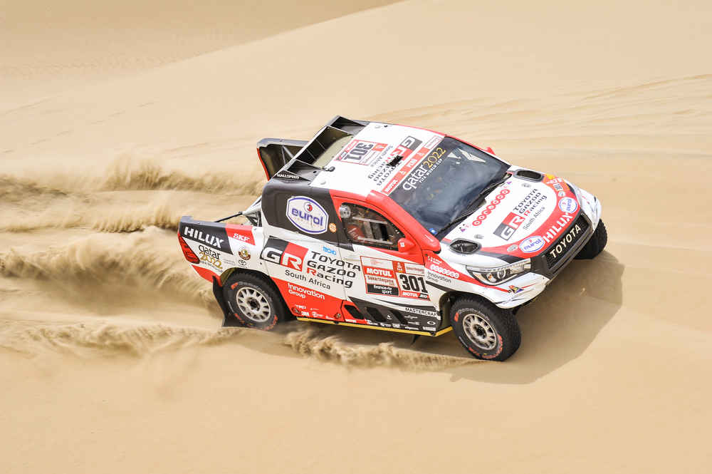 301 AL-ATTIYAH Nasser (qat); BAUMEL Matthieu (fra); Toyota; Toyota Gazoo Racing; Group T1; Class 1; Auto; Photo DPPI