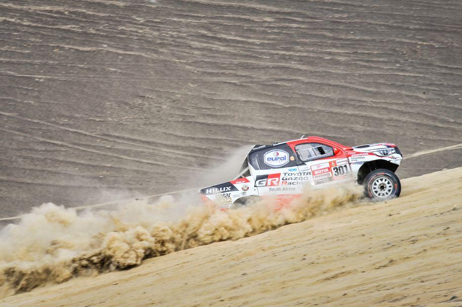 301 AL-ATTIYAH Nasser (qat); BAUMEL Matthieu (fra); Toyota; Toyota Gazoo Racing; Group T1; Class 1; Auto; action during the Dakar 2019; Stage 3; San Juan de Marcona - Arequipa; peru; on january 9 - Photo DPPI