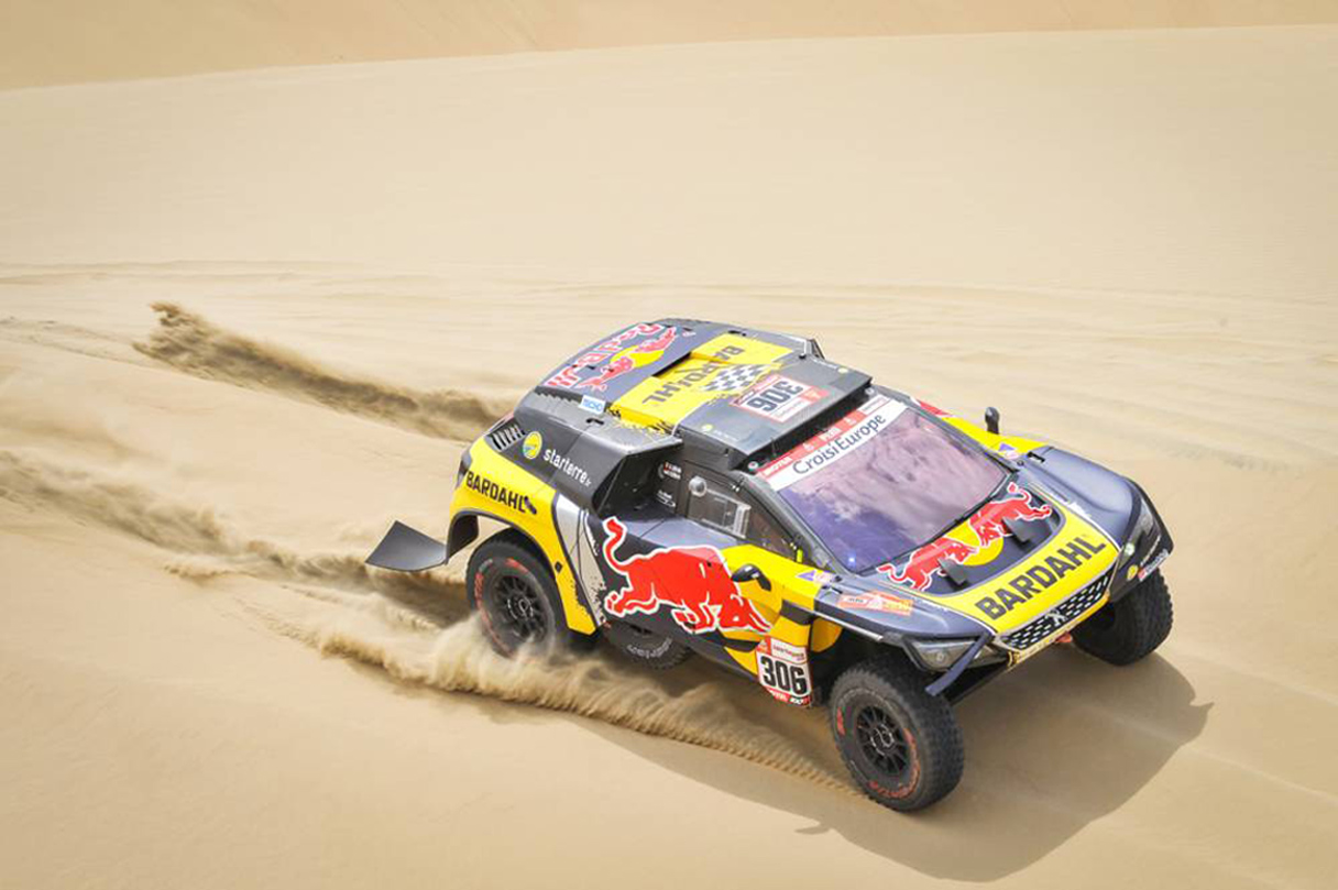 306 Loeb Sebastien (fra), ELENA Daniel (mco), Peugeot DKR 3008, PH-Sport, Group T1, Class 2, Auto, action during the Dakar 2019, Stage 1 Lima to Pisco, peru, on january 7 - Photo DPPI