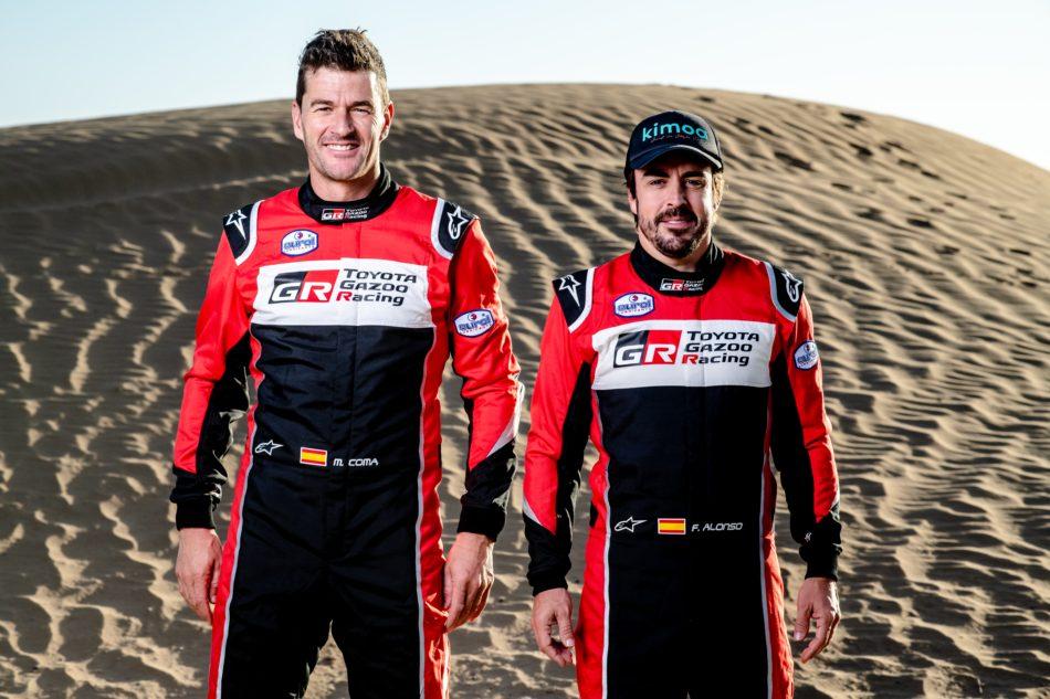 Fernando Alonso y Marc Coma directos al Dakar 2020
